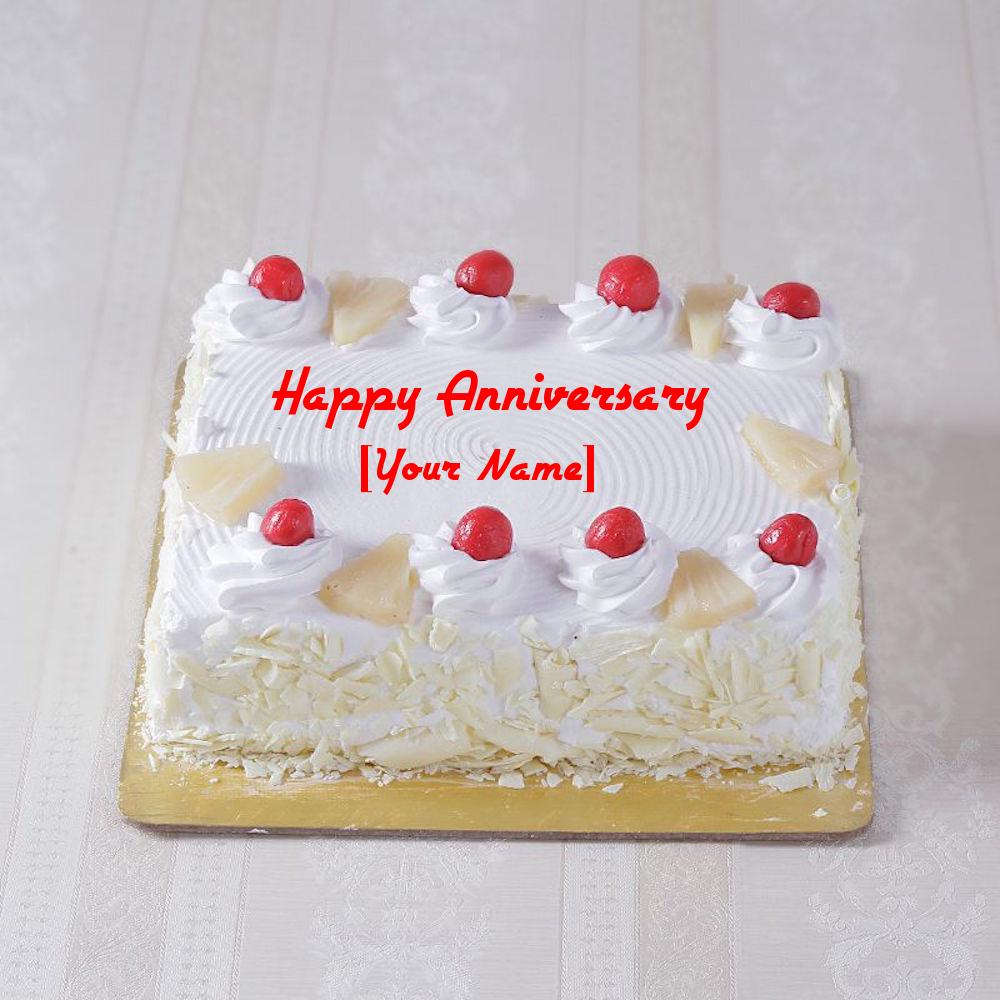 Create Anniversary Cake For Sister With Name Getatoz Com