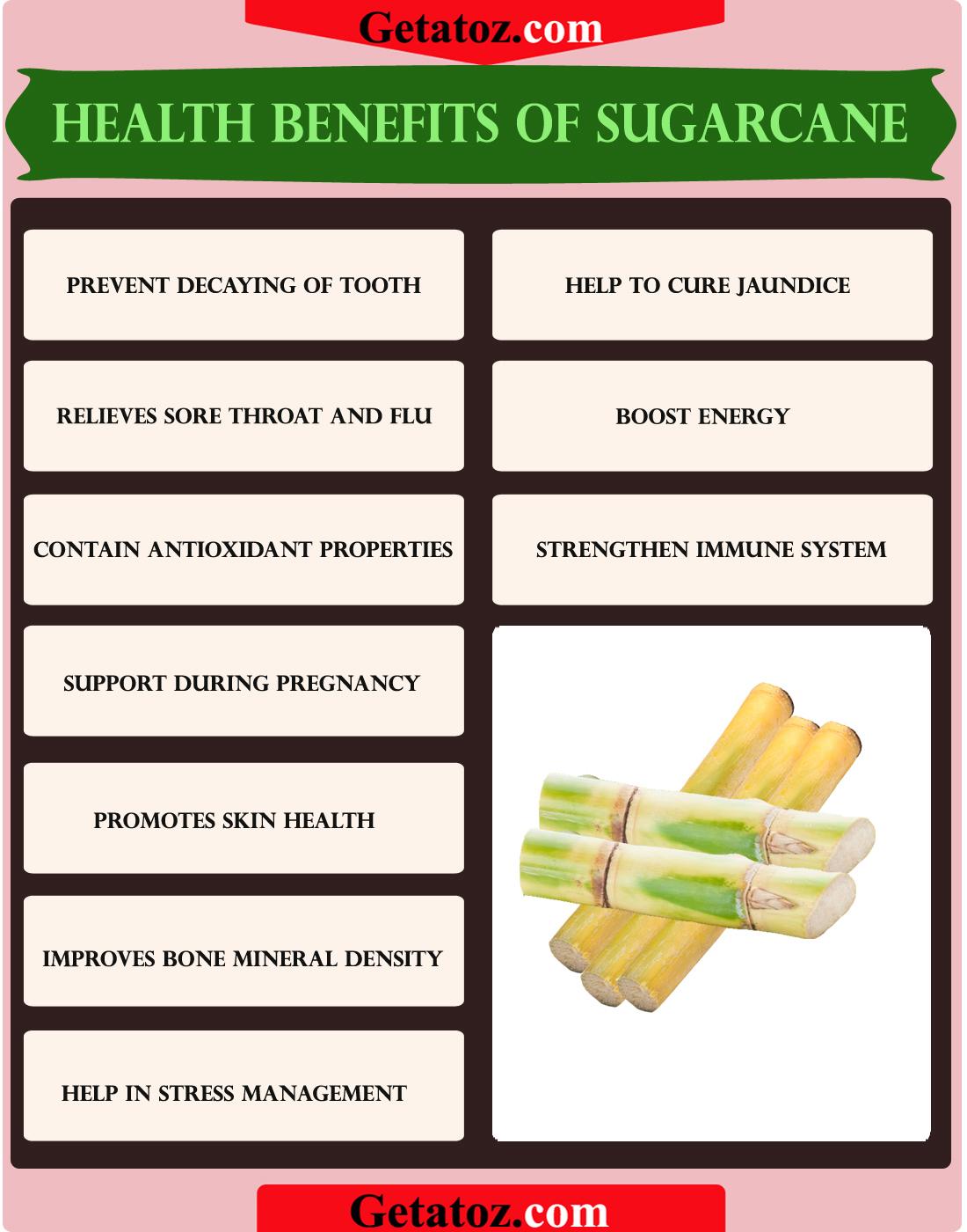 10 health benefits of sugarcane : getatoz