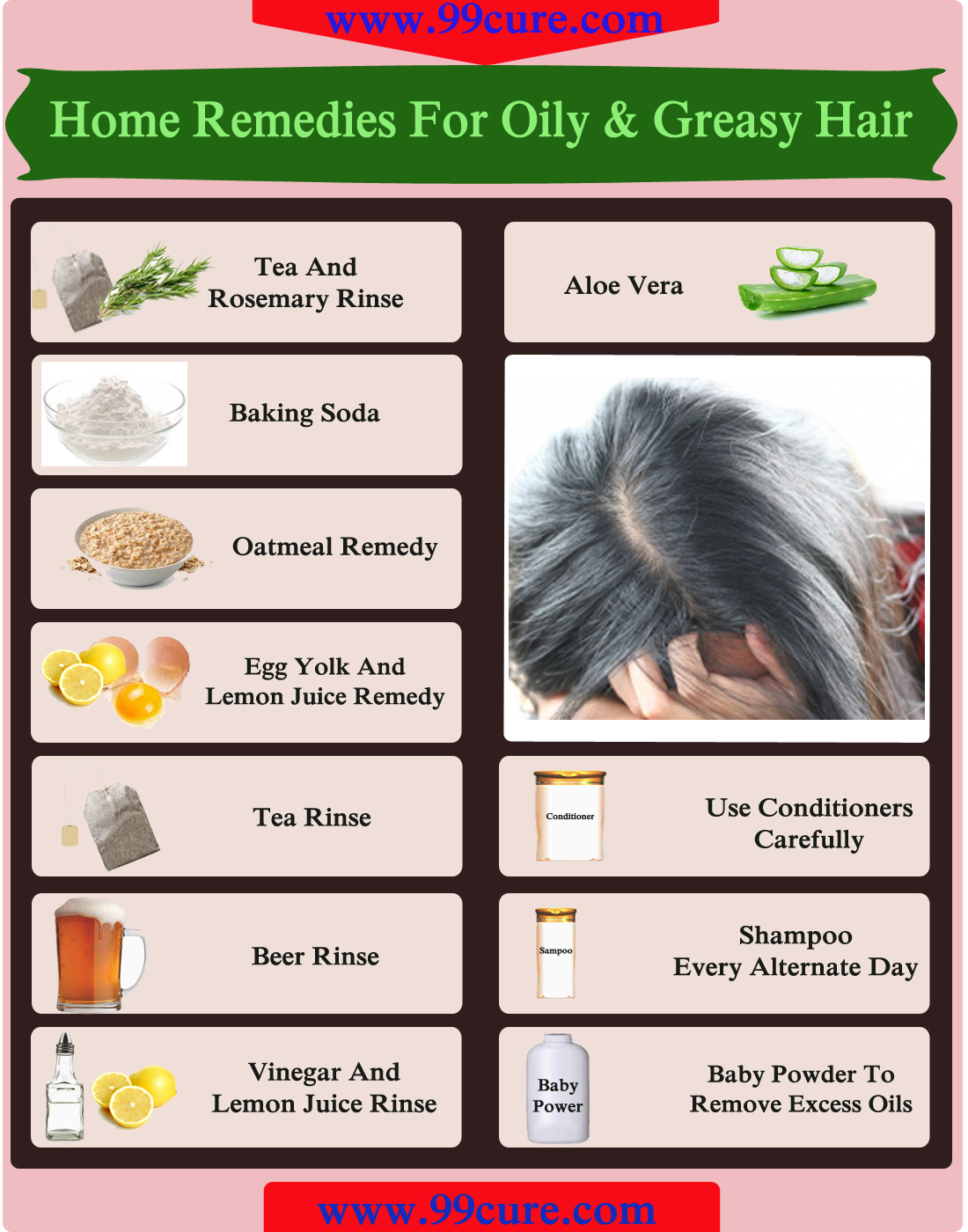Home Remedies For Oily & Greasy Hair