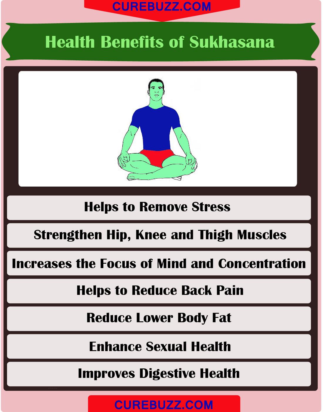 How to do Sukhasana (Easy Yoga Pose): Steps & Health ...