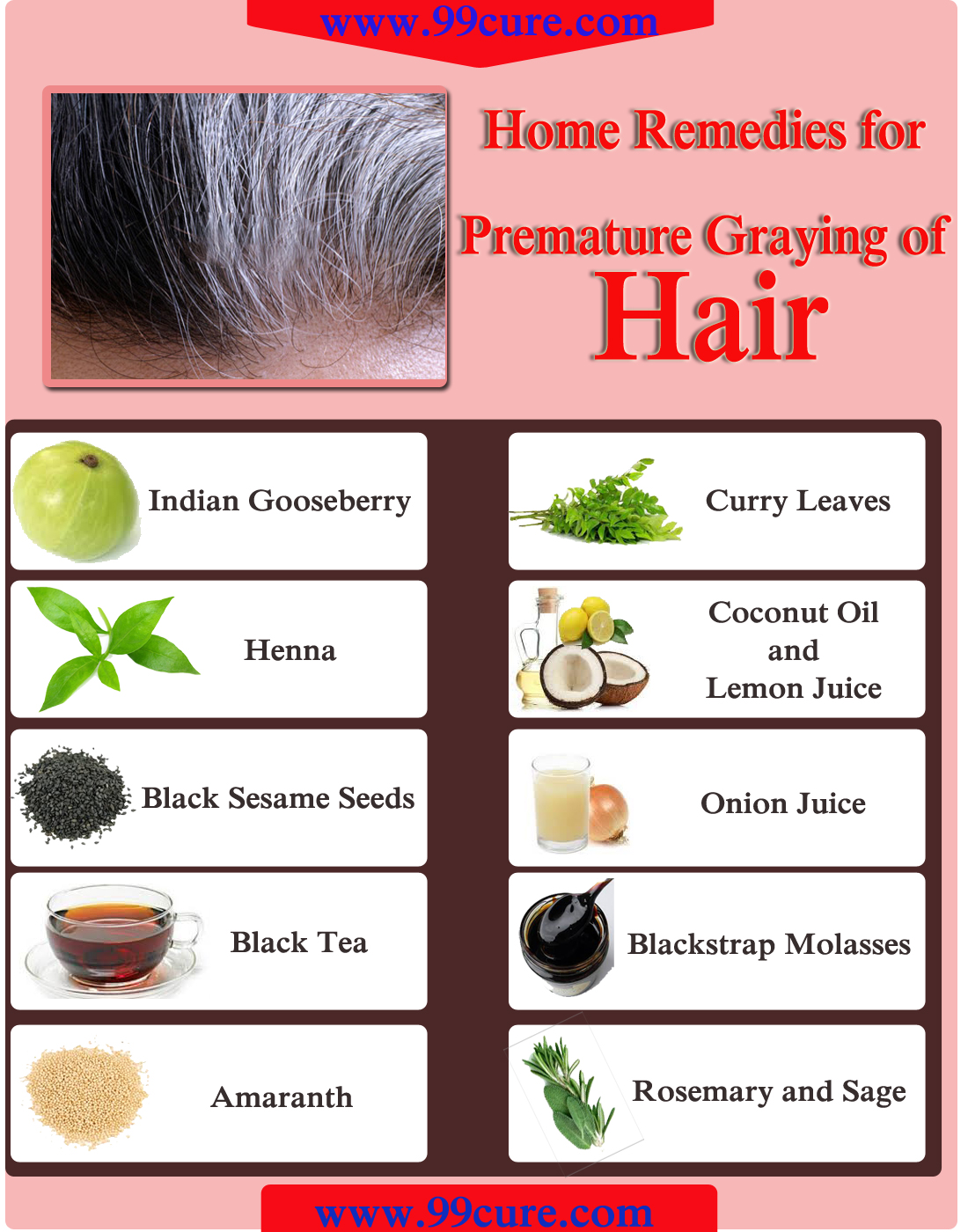 Home Remedies for Premature Graying of Hair