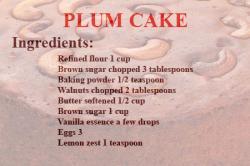 Plum Cake | Christmas Plum Cake Recipe | Fruit Cake