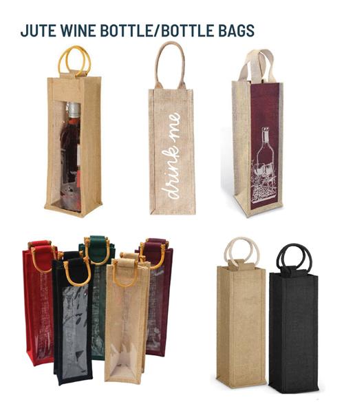 JUTE WINE BOTTLE/BOTTLE BAGS