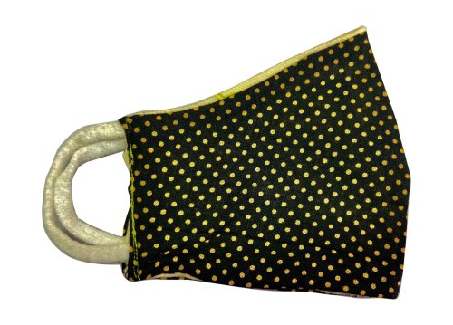 Polka Cotton Face Mask With Dot Printed
