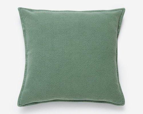 Plain Cotton Dark Green Cushion Cover