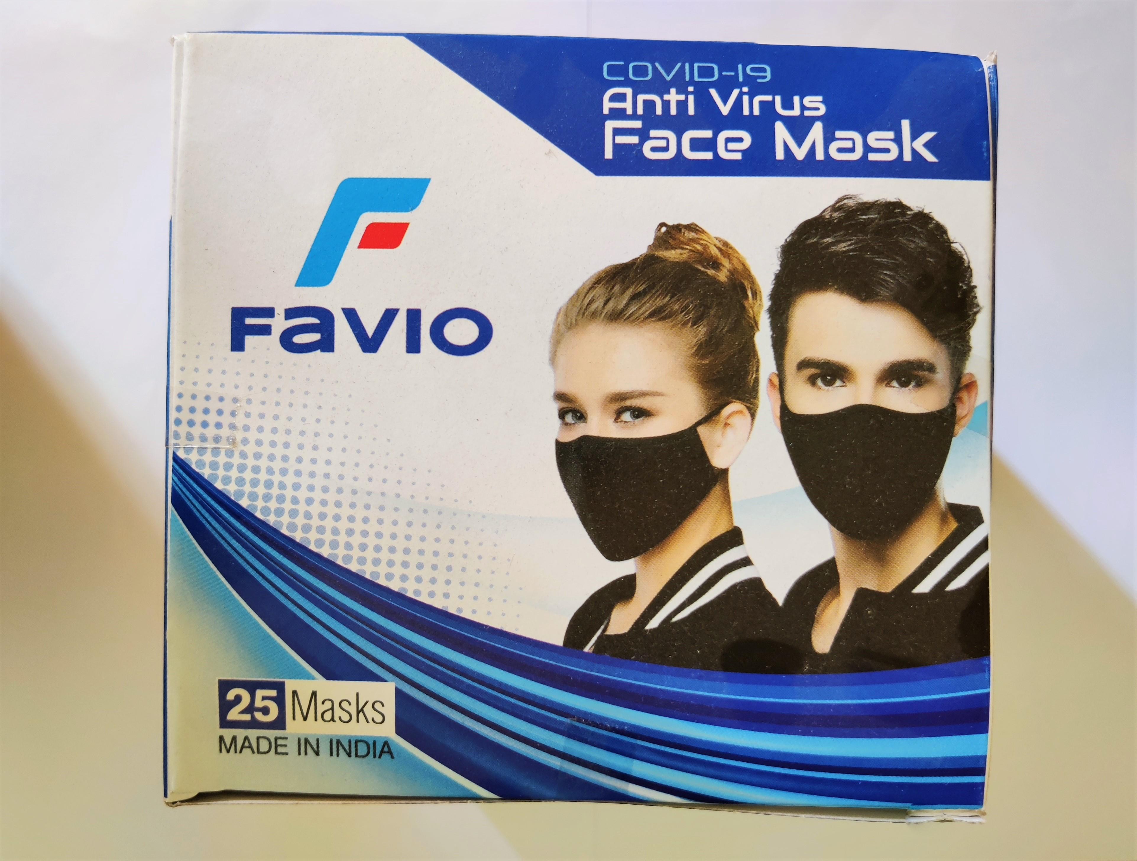 Cotton Medicated Mask 5 Colours 25 pieces per box